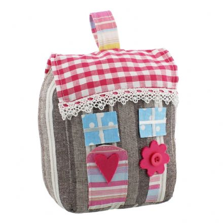 House Door Stop - Red & White Gingham